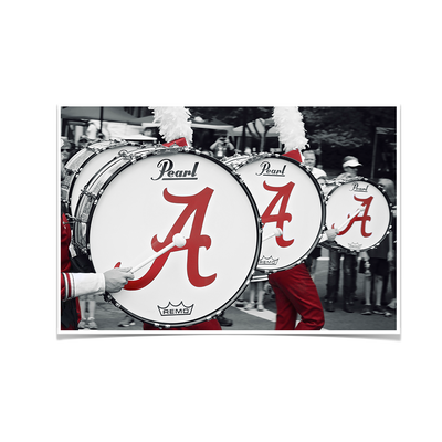Alabama Crimson Tide - MDB Drums - College Wall Art #Poster