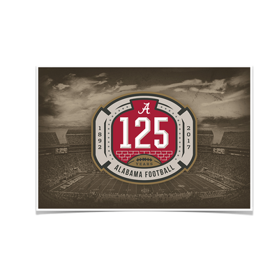 Alabama Crimson Tide - 125th Bama - College Wall Art #Poster