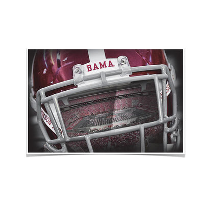 Alabama Crimson Tide - Bama Helmet - College Wall Art #Poster