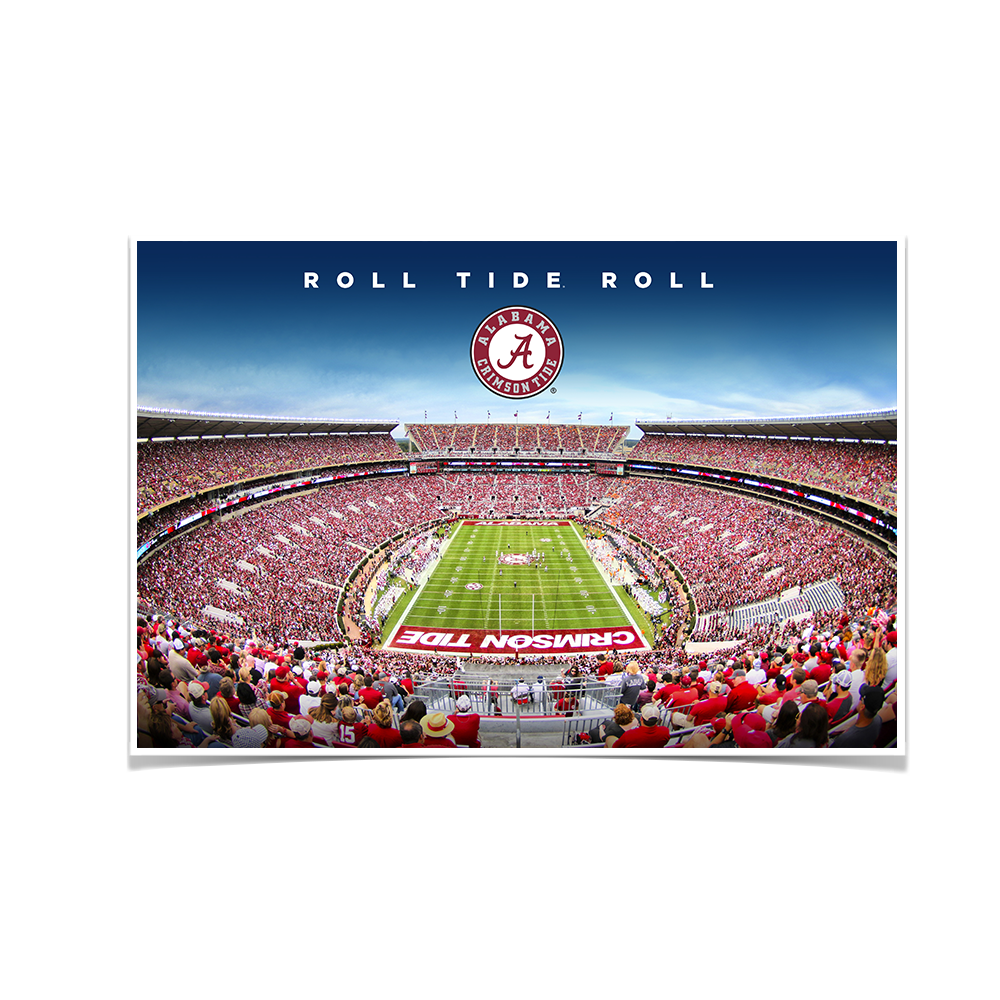 Alabama Crimson Tide - Roll Tide Roll - College Wall Art #Canvas