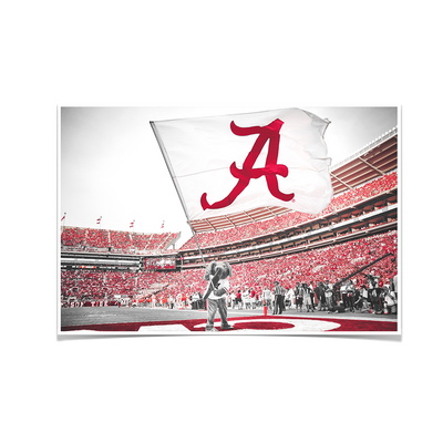 Alabama Crimson Tide - Big Al Flag - College Wall Art#Poster