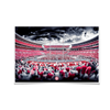 Alabama Crimson Tide - Bryant Denny Monochrome - College Wall Art #Poster