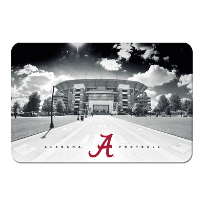Alabama Crimson Tide - Bryant Denny Black & White - College Wall Art #PVC