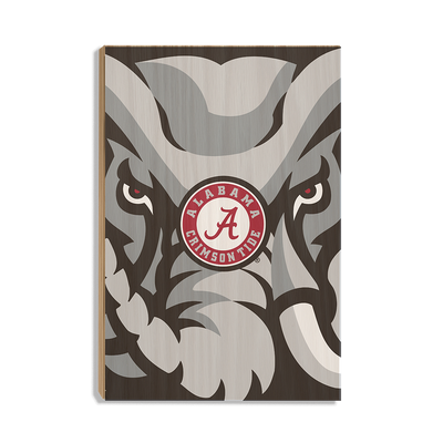 Alabama Crimson Tide - Crimson Elephant - College Wall Art #Wood
