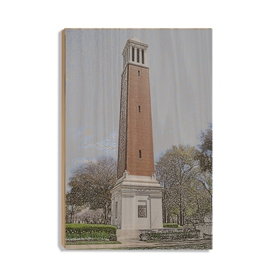 Alabama Crimson Tide - Denny Chimes - College Wall Art #Wood