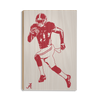 Alabama Crimson Tide - Bama Illustration - College Wall Art #Wood