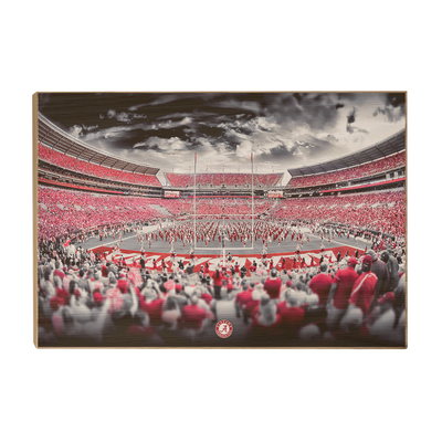 Alabama Crimson Tide - Bryant Denny Monochrome - College Wall Art #Wood