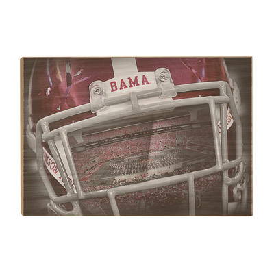 Alabama Crimson Tide - Bama Helmet - College Wall Art #Wood