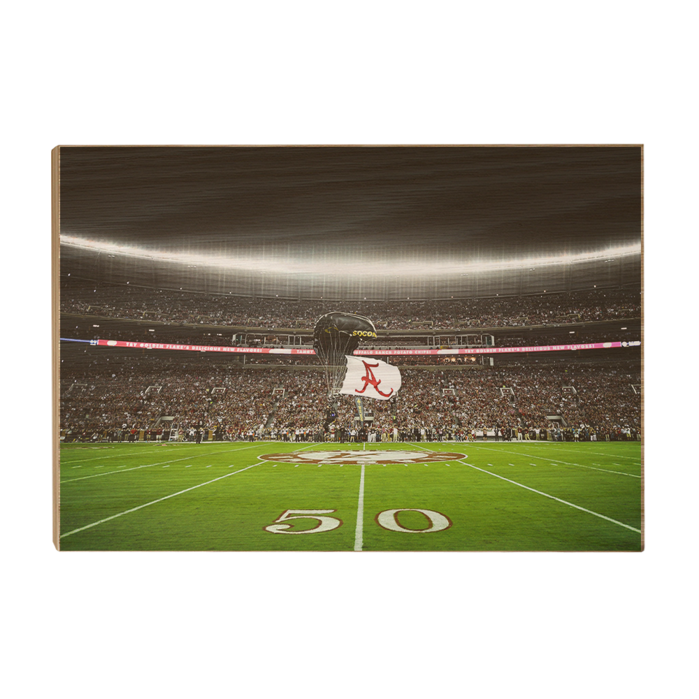 Alabama Crimson Tide - Pin Point Landing - College Wall Art#Canvas