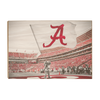 Alabama Crimson Tide - Big Al Flag - College Wall Art #Wood