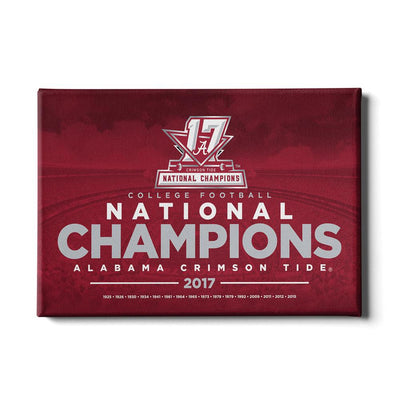 Alabama Crimson Tide - 2017 National Champions - College Football #Canvas