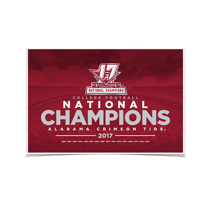 Alabama Crimson Tide - 2017 National Champions - College Football #Poster
