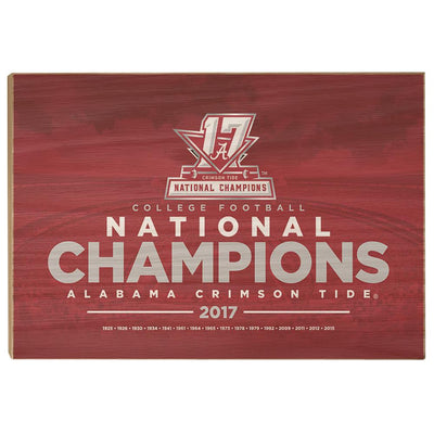 Alabama Crimson Tide - National Champions Alabama Crimson Tide - College Wall Art #Wood