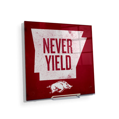 Arkansas Razorbacks - Arkansas Never Yield State - College Wall Art #Acrylic Mini