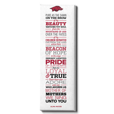 Arkansas Razorbacks - Arkansas Alma Mater - College Wall Art #Canvas