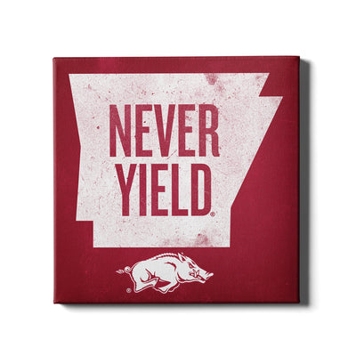Arkansas Razorbacks - Arkansas Never Yield State - College Wall  Art #Canvas