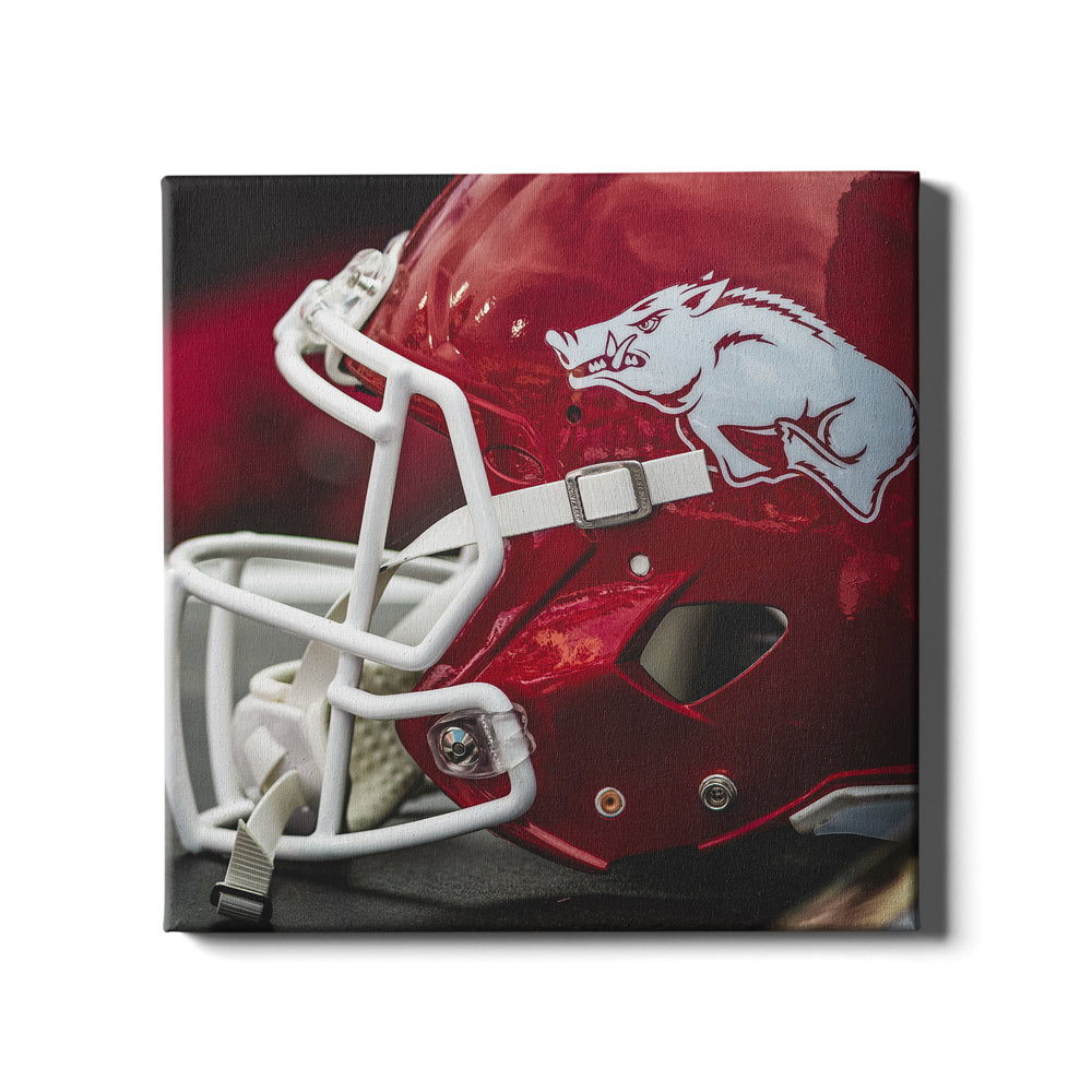 Arkansas Razorbacks - Razorback Helmet #Canvas