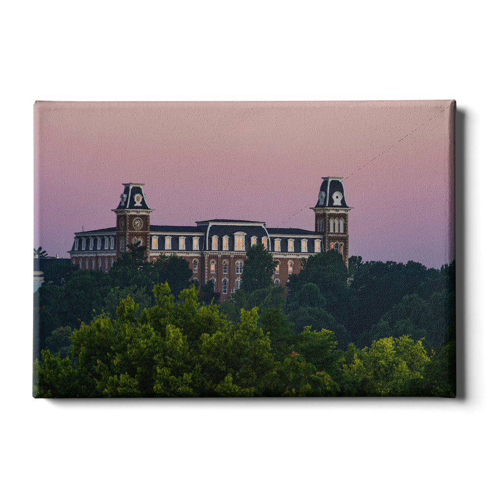 Arkansas Razorbacks - Old Main Sunrise - College Wall Art #Canvas
