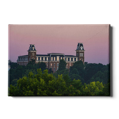 Arkansas Razorbacks - Old Main Sunrise #Canvas