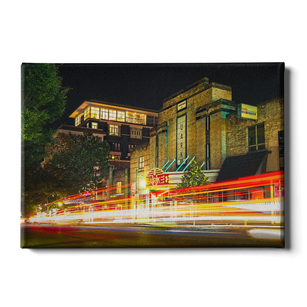 Arkansas Razorbacks - Dickson Street #Canvas