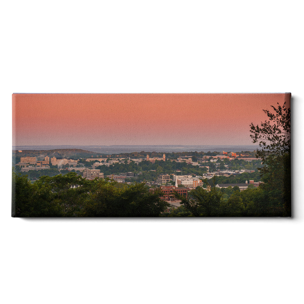 Arkansas Razorbacks - Mount Sequoyah Sunrise - College Wall Art #Canvas