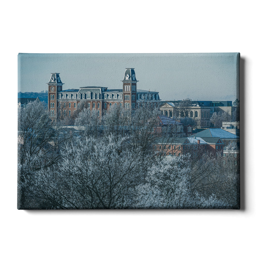Arkansas Razorbacks - Old Main Frost - College Wall Art #Canvas