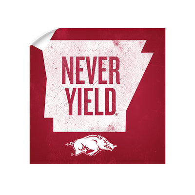 Arkansas Razorbacks - Arkansas Never Yield State - College Wall Art #Decal