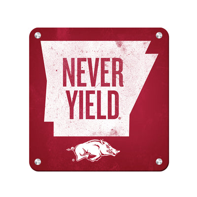 Arkansas Razorbacks - Arkansas Never Yield State - College Wall Art #Metal