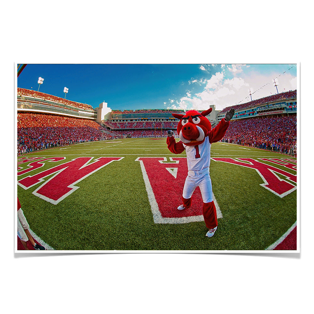 Arkansas Razorbacks - Big Red End Zone #Canvas