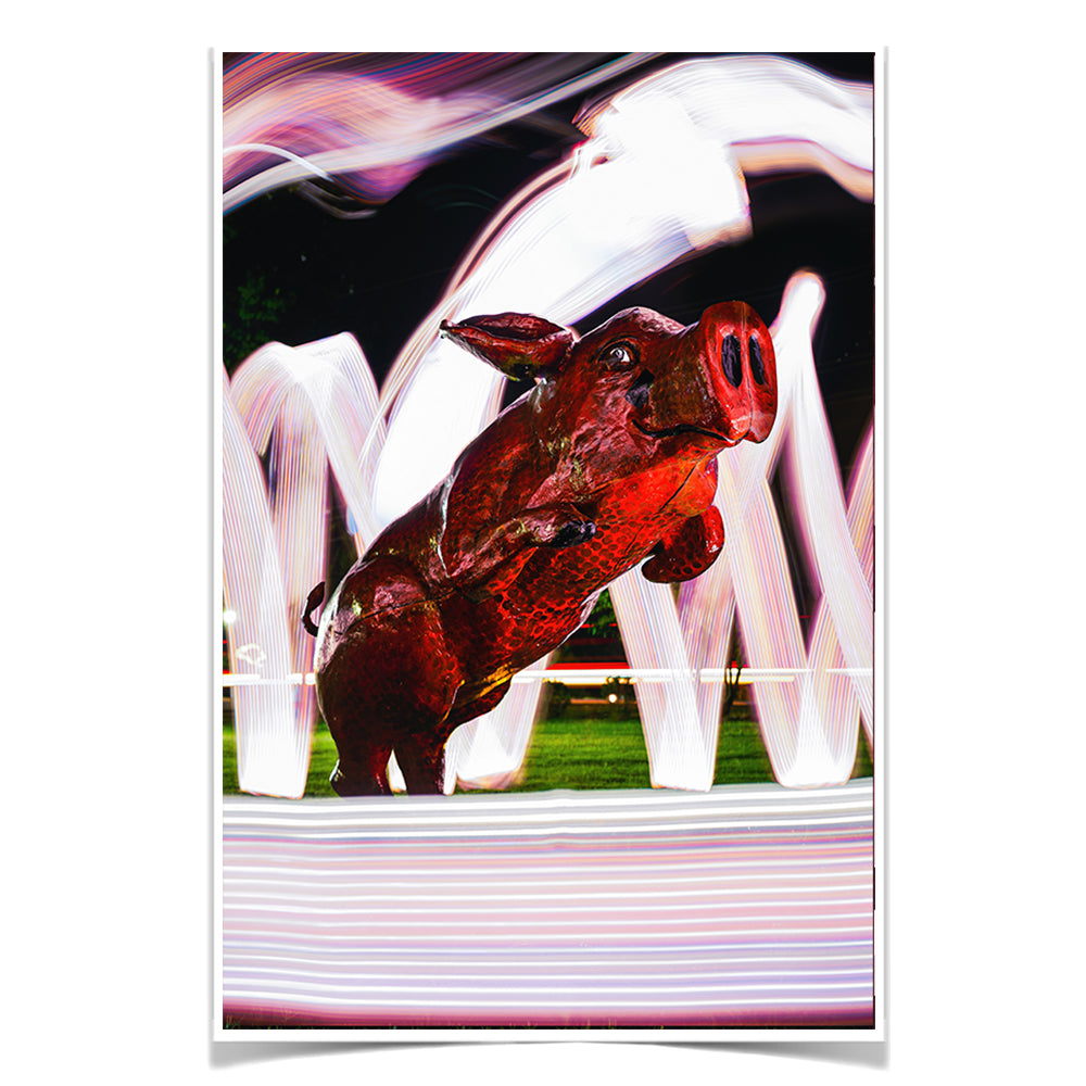 Arkansas Razorbacks - Fayetteville Hog - College Wall Art #Canvas