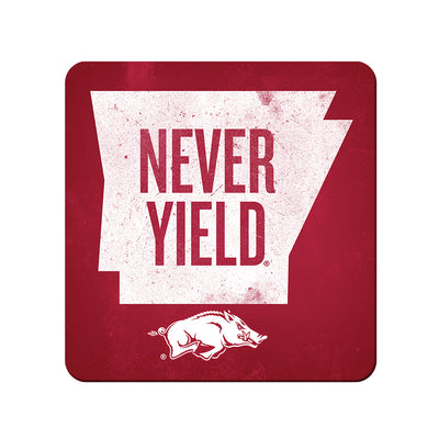 Arkansas Razorbacks - Arkansas Never Yield State - College Wall Art #PVC