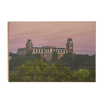 Arkansas Razorbacks - Old Main Sunrise #Wood Art