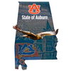 Auburn Tigers - State of Auburn 2 Layers Dimensional Wall Art - College Wall Art#Dimensional