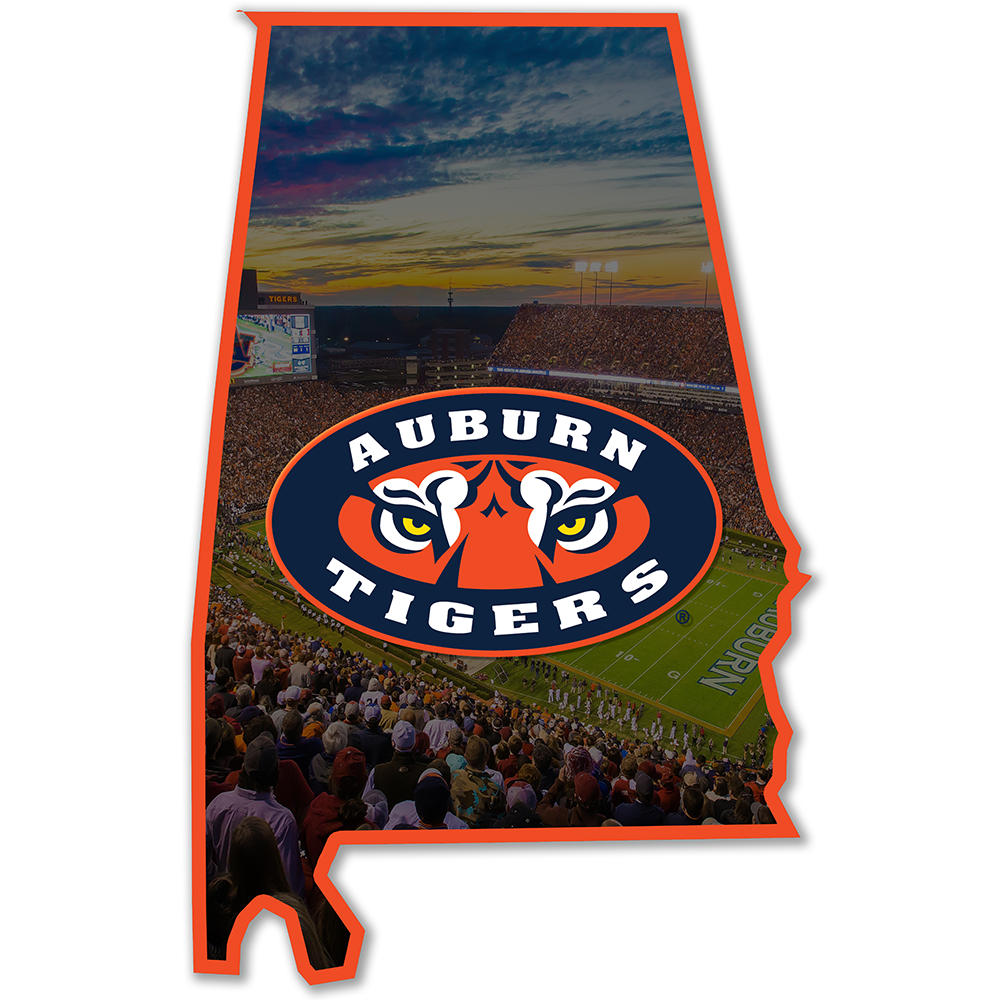 Auburn Tigers - Auburn Tigers 2 Layers Dimensional Wall Art - College Wall Art#Dimensional