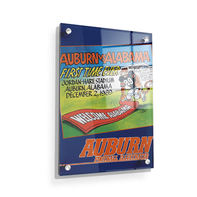 Auburn Tigers - Vintage Auburn vs Alabama-First Time Ever Jordan Hare 12.2.89 - College Wall Art #Acrylic