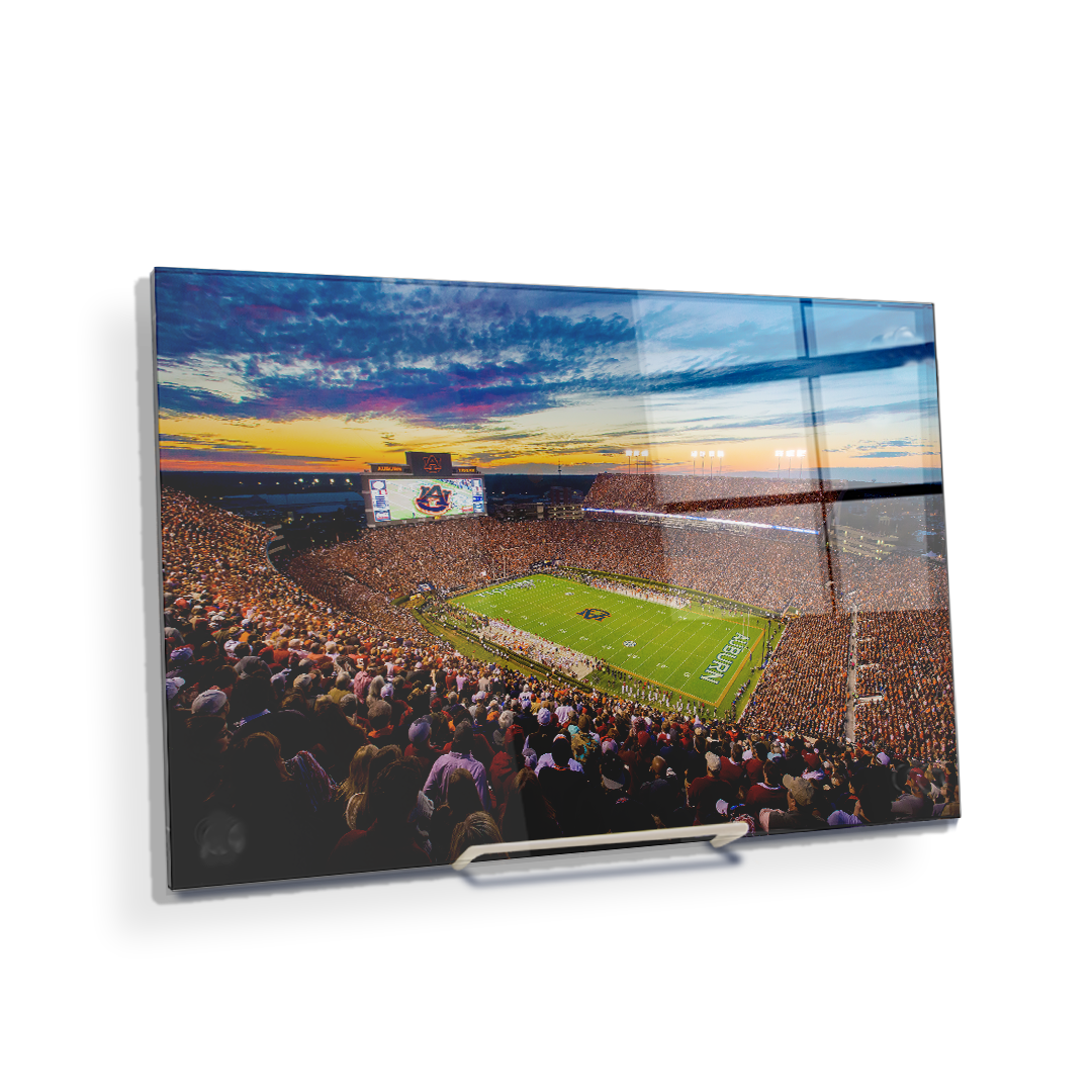 Auburn Tigers - Sunset over Jordan-Hare Stadium - College Wall Art#Canvas
