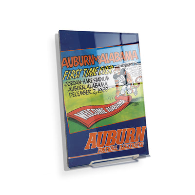 Auburn Tigers - Vintage Auburn vs Alabama-First Time Ever Jordan Hare 12.2.89 - College Wall Art #Acrylic Mini
