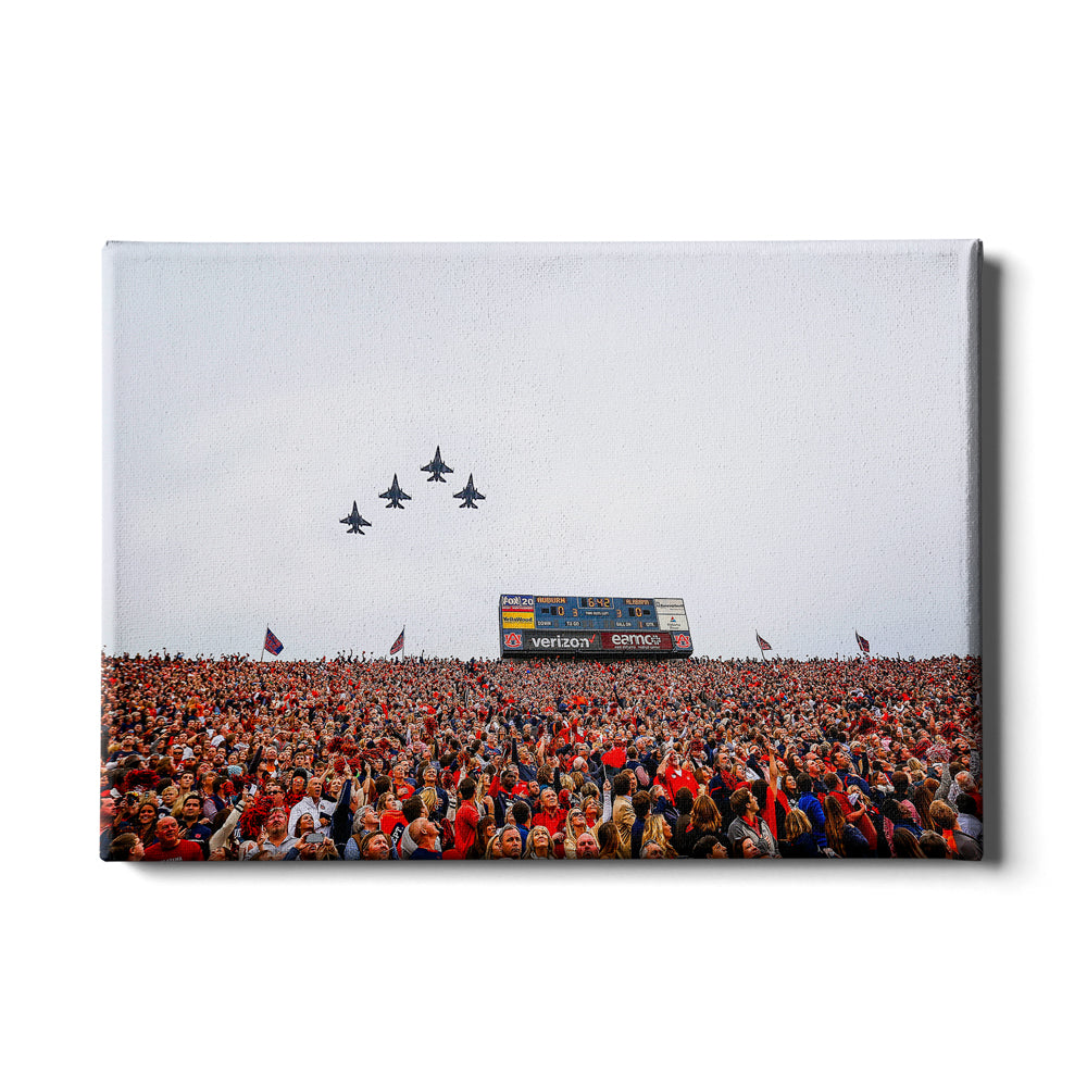 Auburn Tigers - Iron Bowl Fly Over - College Wall Art#Canvas