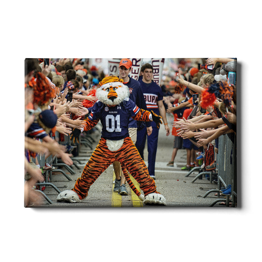 Auburn Tigers - Aubie at the Tiger Walk - College Wall Art#Canvas
