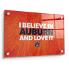 Auburn Tigers - I Believe in Auburn - College Wall Art#Acrylic