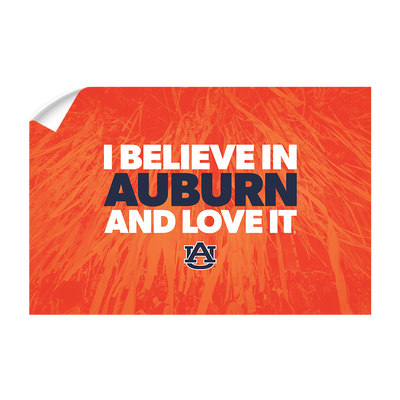 Auburn Tigers - I Believe in Auburn - College Wall Art#Wall Decal