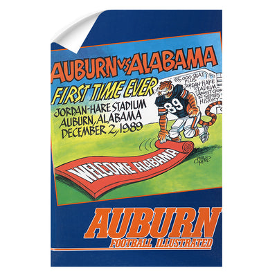 Auburn Tigers - Vintage Auburn vs Alabama-First Time Ever Jordan Hare 12.2.89 - College Wall Art #Wall Decal