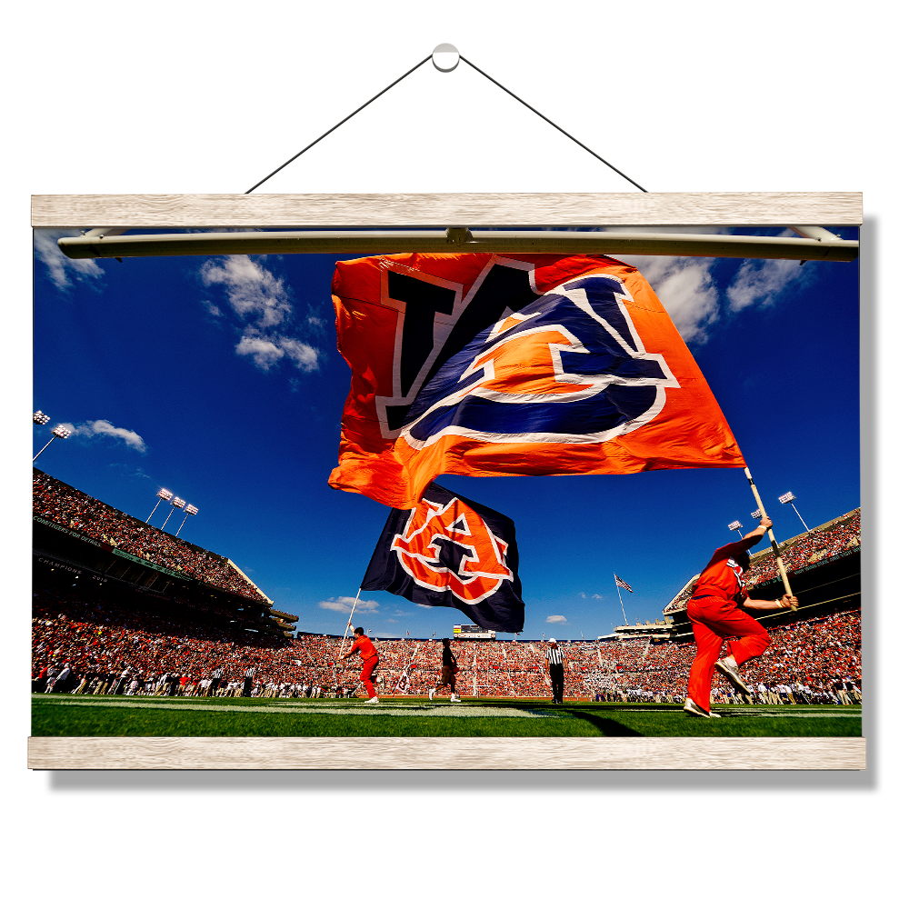 Auburn Tigers - Cheer Flags - College Wall Art#Canvas
