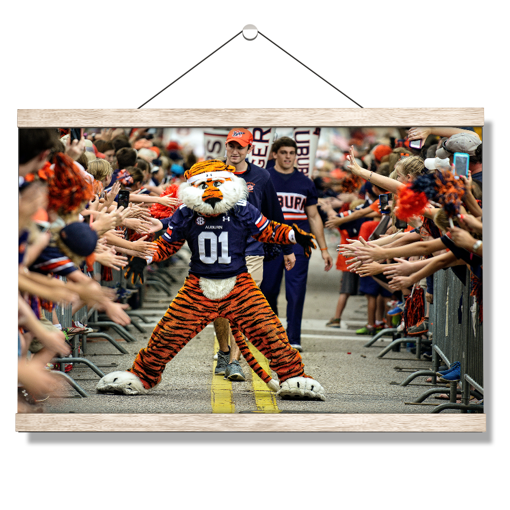 Auburn Tigers - Aubie at the Tiger Walk - College Wall Art #Canvas