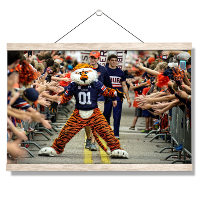 Auburn Tigers - Aubie at the Tiger Walk - College Wall Art#Hanging Canvas