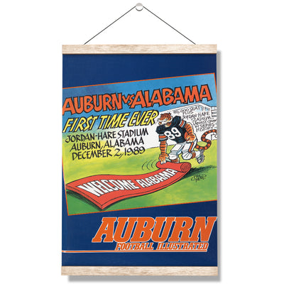 Auburn Tigers - Vintage Auburn vs Alabama-First Time Ever Jordan Hare 12.2.89 - College Wall Art #Hanging Canvas