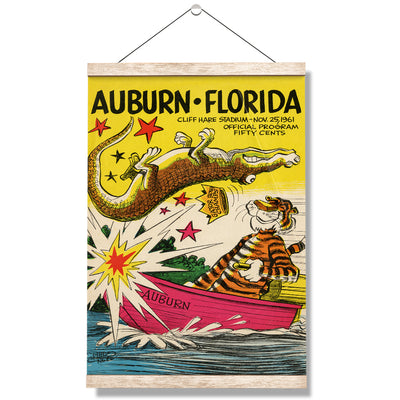 Auburn Tigers - Auburn vs Florida Official Program Cover 11.25.61 - College Wall Art #Hanging Canvas
