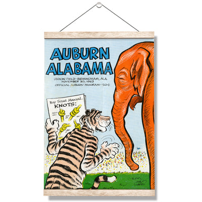 Auburn Tigers - Auburn vs Alabama Official Program Cover 11.30.63 - College Wall Art #Hanging Canvas