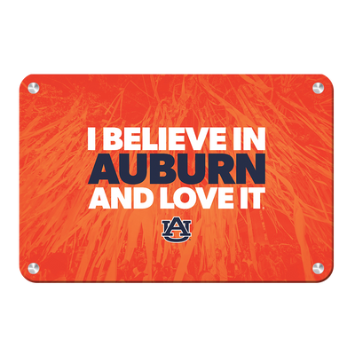 Auburn Tigers - I Believe in Auburn - College Wall Art#Metal
