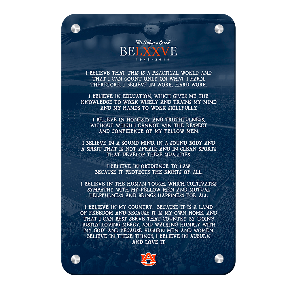 Auburn Tigers - Auburn Creed - College Wall Art#Canvas